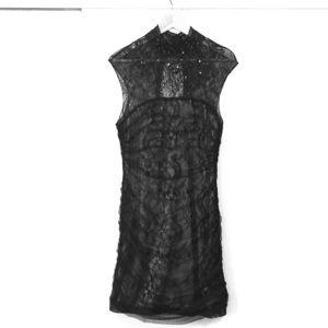 BEBE Black Lace Mini Dress Size Large